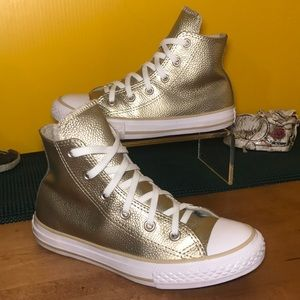Shiny Gold CONVERSE ⭐️ All Star Sneakers Size 1